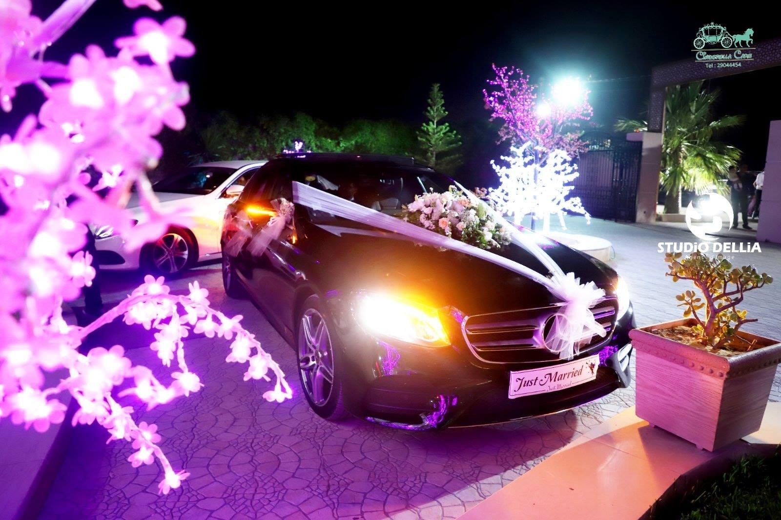 Cinderella cars pour location de voiture pour marriage.