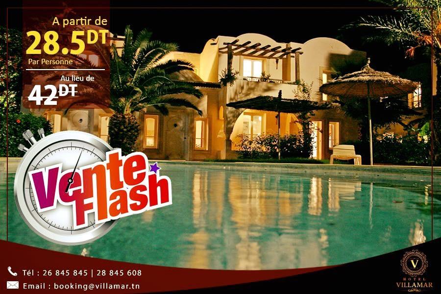 💯 ⏰ ⏰ Vente Flash :Jusqu'à 47% de réduction⏰ ⏰💯 ‼️ 🚩🔝Hotel Le #Villamar #Hammamet Suites & Villas 🚩🔝 ●➖➖➖➖➖●